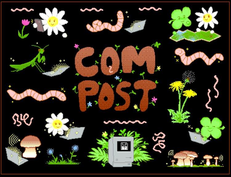 Angelica's COMPOST anigif stickers