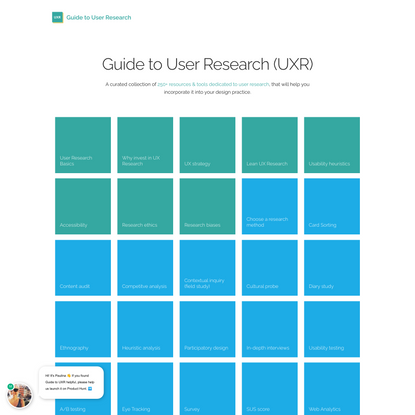 Guide to UXR