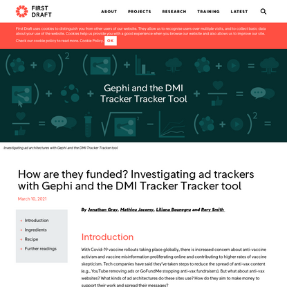 How are they funded? Investigating ad trackers with Gephi and the DMI Tracker Tracker tool - First Draft