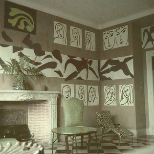 The Swimming Pool in Matisse's dining room at the Hôtel Régina, Nice, 1952