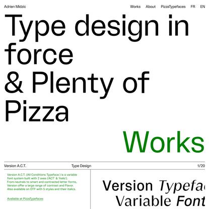Adrien Midzic   Type design