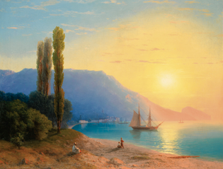 Sunset over Yalta (1861), Ivan Aivazovsky