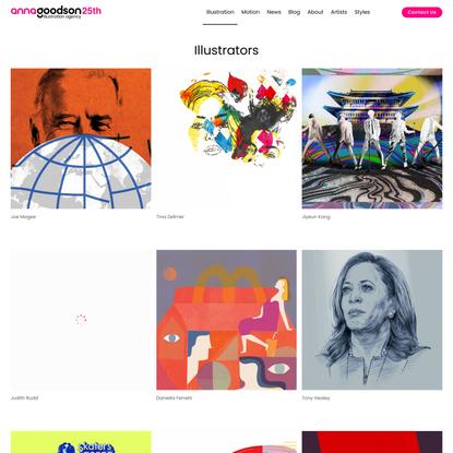 Illustrators | Anna Goodson Illustration Agency