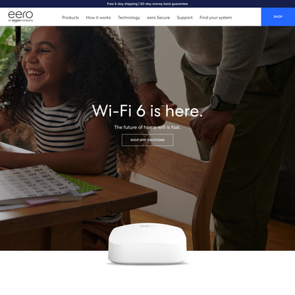 Finally, a Whole Home WiFi System That Works-Best Coverage Mesh Wifi by eero
