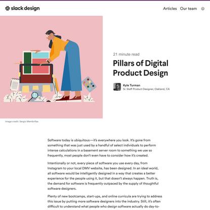 Pillars of Digital Product Design • Slack Design