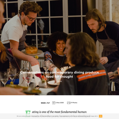 Conversations on contemporary dining produce food for thought