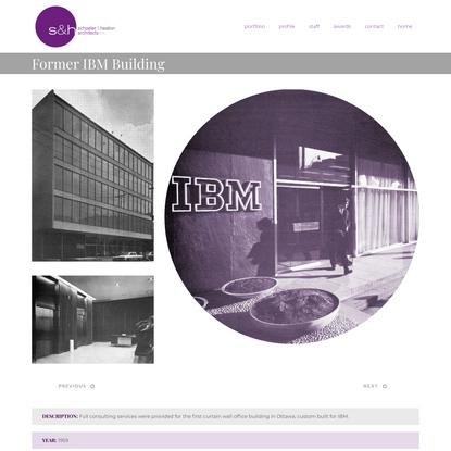 Former IBM Building | Schoeler & Heaton Architects Inc.