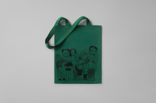 Tote bag for The Greenhouse (designed by Alt Group; illustration by Jay Cover)
