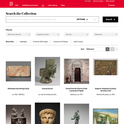 Search the Collection | The Metropolitan Museum of Art