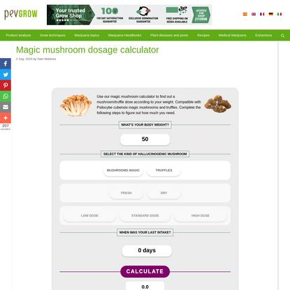 Magic mushroom dosage calculator - Pevgrow.com