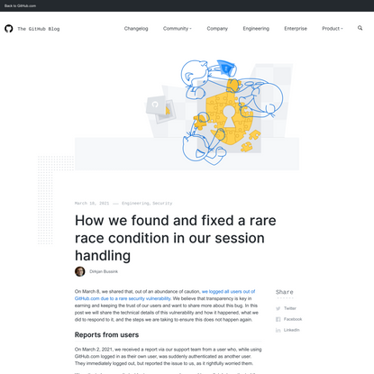 How we found and fixed a rare race condition in our session handling - The GitHub Blog