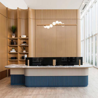 Reception area, Mississauga, ON (designed by Mason Studio)