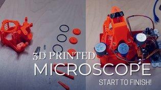 Openflexure Microscope Motorized Raspberry Pi 4 Camera v2 3D printed project 2020