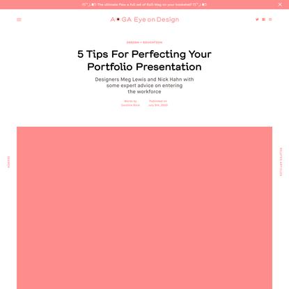 5 Tips For Perfecting Your Portfolio Presentation