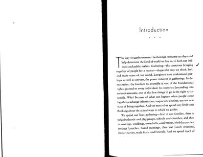 """Priya Parker, *On Gathering*, """"Introduction"""""""