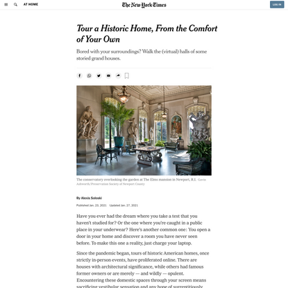 Tour a Historic Home, From the Comfort of Your Own