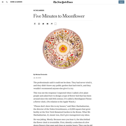 Five Minutes to Moonflower (Published 2015)
