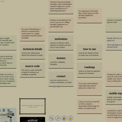 domino: a tool for collaging thoughts