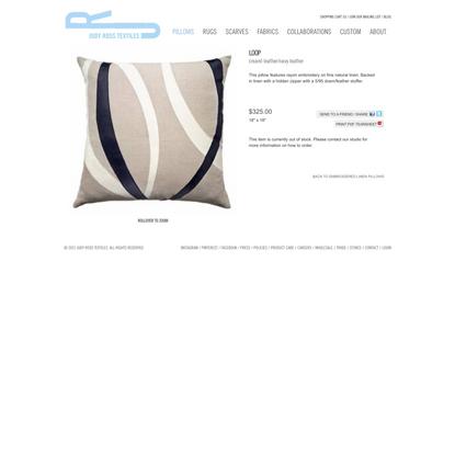 Embroidered Linen Pillows :: Loop :: Judy Ross Textiles