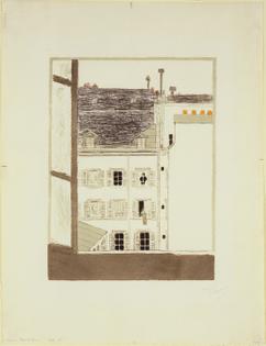 House in a Courtyard (Maison dans la cour), Pierre Bonnard, 1899, MoMA: Drawings and Prints