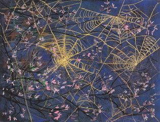 Spider Webs and Bloosoms ~ Ethel Vrana