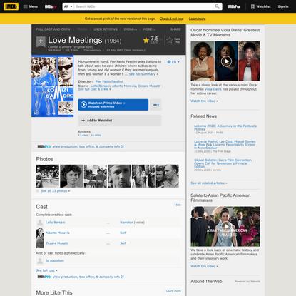 Love Meetings (1964) - IMDb