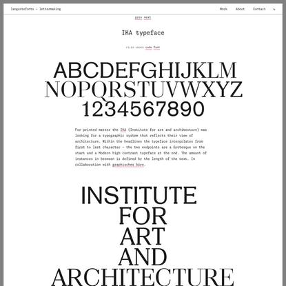 IKA typeface