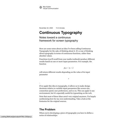 Continuous Typography