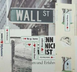 Martin Kippenberger Wall Street (I Love Peace and Money) 1993