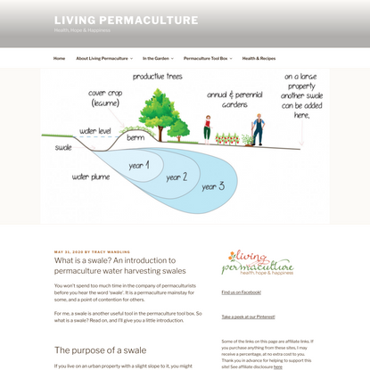 What is a Swale? An introduction to permaculture water harvesting swales