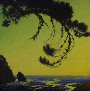 Ferdinand Burgdorff (American, 1881-1975), The California coast, 1929. Oil on masonite, 14 x 14 in.