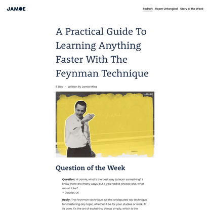 A Practical Guide to the Feynman Technique — Jamoe