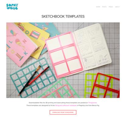Sketchbook Templates — SOPHY WONG