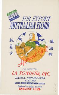 Australian export wheat flour (Harvest Girl)
