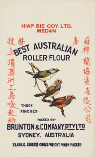 Australian export wheat flour (Hiap Bie Coy)