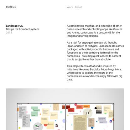 Landscape OS — Eli Block
