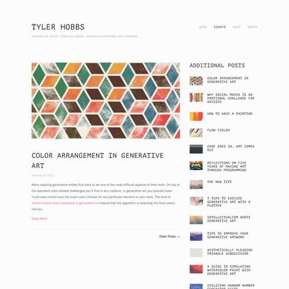 Essays — TYLER HOBBS