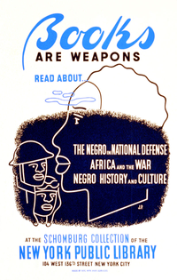 WPA poster advertising the Schomburg Collection