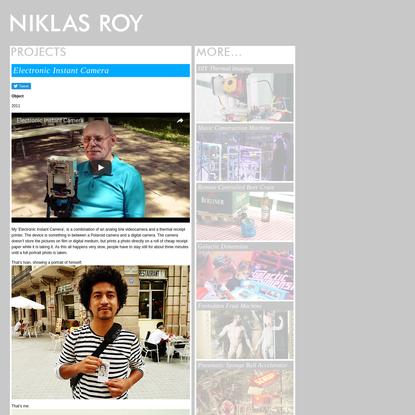 Niklas Roy: Electronic Instant Camera