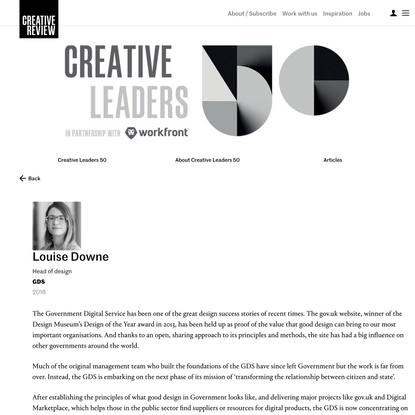 Louise Downe – Creative Review