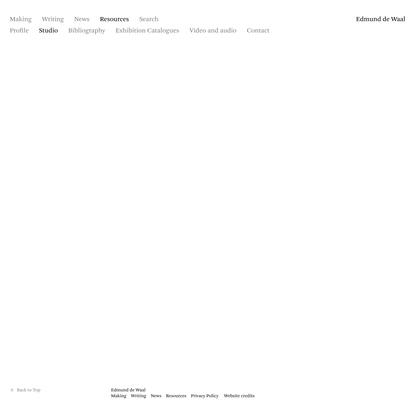 Studio – Resources - Edmund de Waal