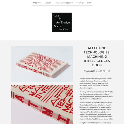 Affecting Technologies, Machining Intelligences Book