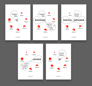 Posters for KSENIASCHNAIDER event
