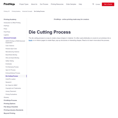 Die Cutting Process for Books