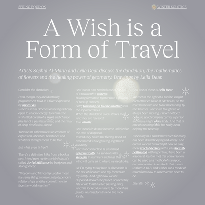 A Wish is a Form of Travel