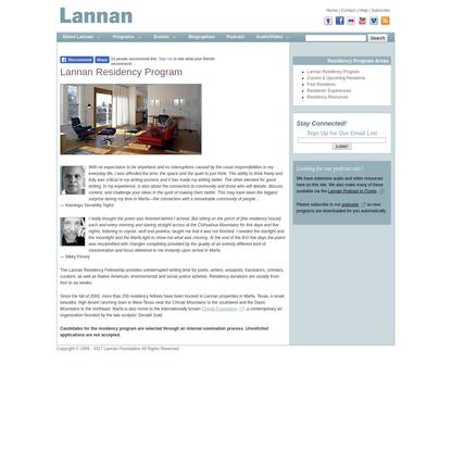 Lannan Residency Program - Lannan Foundation