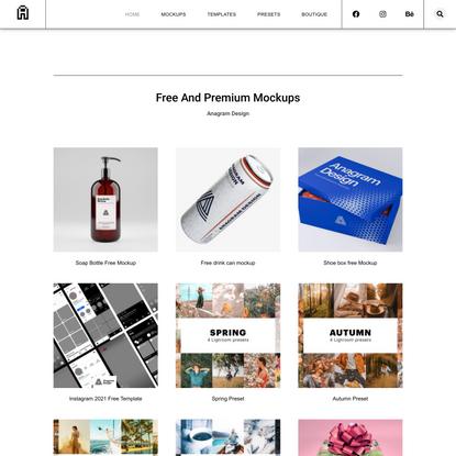 Free and premium mockups - Anagram Design - Free Download