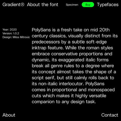 PolySans Family — Polysans About