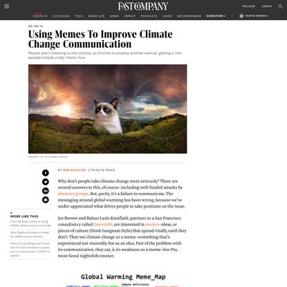 Using Memes To Improve Climate Change Communication