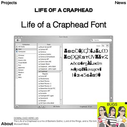 Life of a Craphead Font | Life of a Craphead